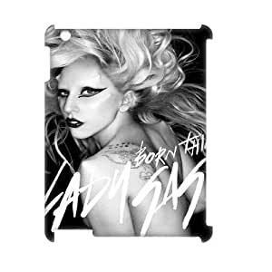 C-EUR Lady Gaga Pattern 3D Case for iPad 2,3,4