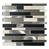 Art3d Decorative Glass/Stone/Metal Tile for Kitchen Backsplash/Bathroom Backsplash (10 Pack)