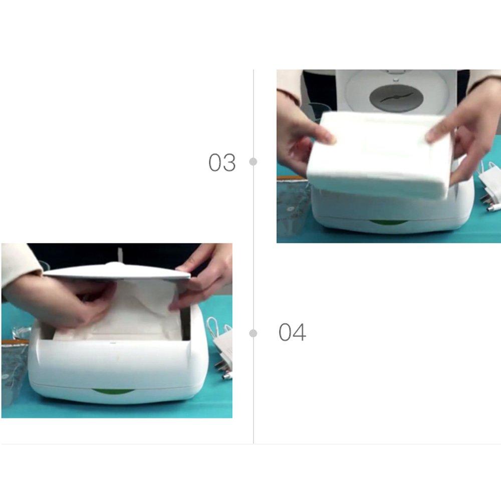LiuJianQin NPHWQ ZXQL Toallitas húmedas para bebé/Calentador de 45 Grados Máquina de toallitas húmedas/Toallitas húmedas para niños Caja de ...