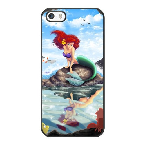 Coque,Coque iphone 5 5S SE Case Coque, Little Mermaid Fan Art Cover For Coque iphone 5 5S SE Cell Phone Case Cover Noir