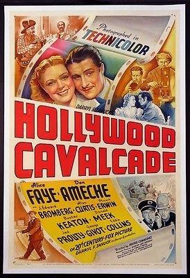 HOLLYWOOD CAVALCADE ALICE FAYE DON AMECHE STONE LITHO 1939 1-SHEET ()