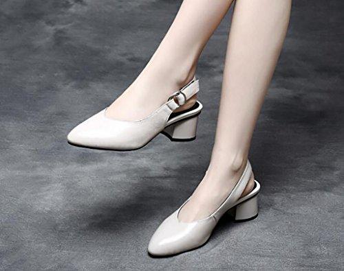 Dimensioni Scarpe Per Sandali Tacco Da Moda Alla colore Donna B Fafz Con Piatti A Dita 40 Comodi Le Largo f7dawn0Bq