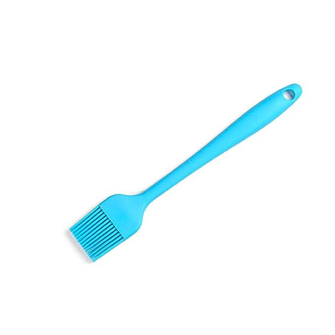 TONVER Silicone Grill Brush Good Grips Silicona Pincel para hojaldre de alta resistencia al calor con dise?o de orificio para colgar, Seguridad alimentaria, ...