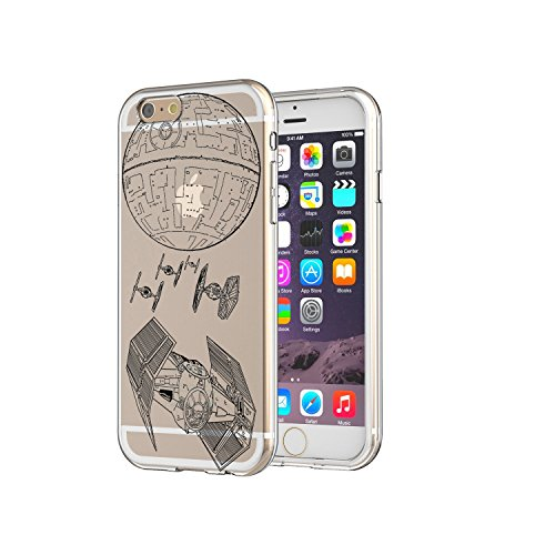 T.I.E Fighter Death Star Star Wars Art Clear Soft Rubber Silicon Apple IPhone 7/7s Case Embossed Uv Print Design (Ti Fighter Star Wars compare prices)