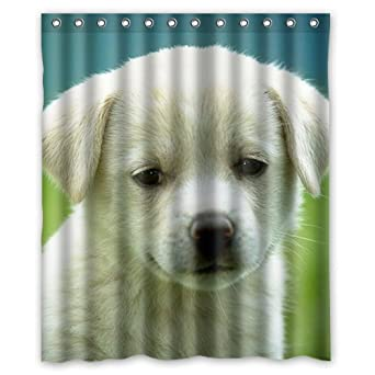 Amazon Custom Sad White Puppy Shower Curtain 60 X 72 Inch Bath Clothing