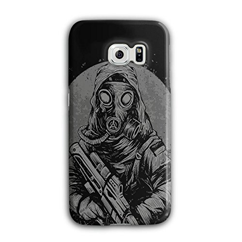 [Masked Terrorist Man Fight Fire NEW Black 3D Samsung Galaxy S6 Edge Case | Wellcoda] (Terrorist Costumes)