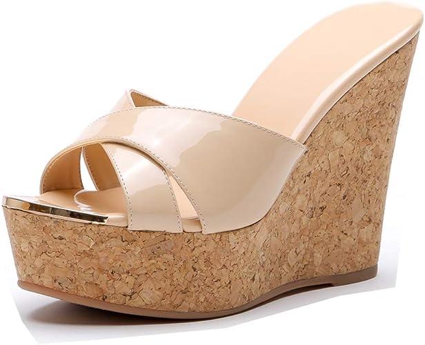 Chaussure à Talon Compensé Femme