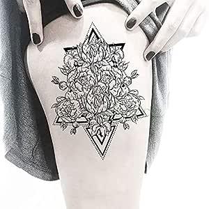 tzxdbh 3 Piezas Impermeable Tatuaje Pegatina Tinta Flor Collar de ...