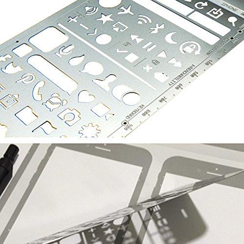OLizee Creative iPhone 6 Sketch Pad Stencil Kit for App Design UI Design by OLizee (Image #3)
