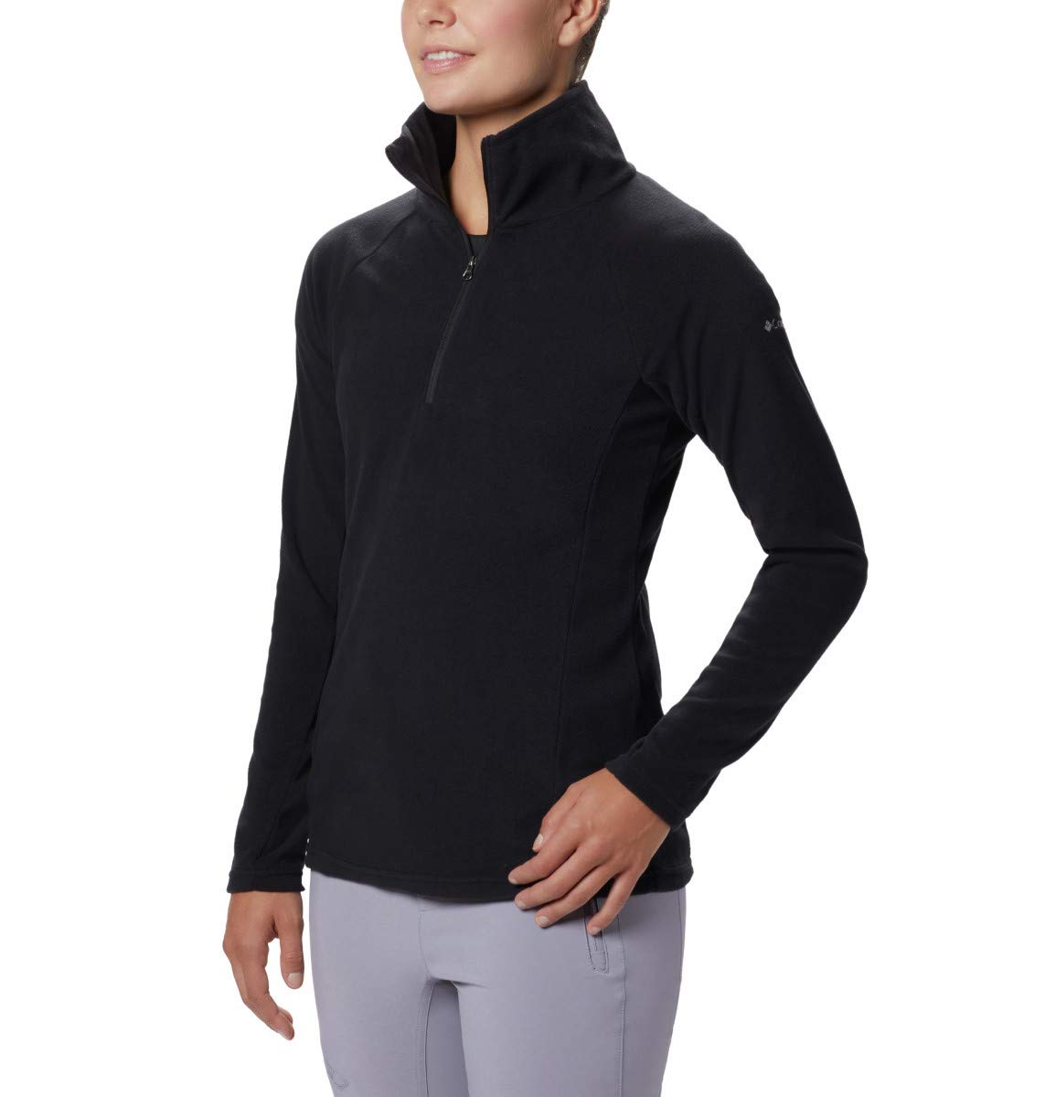 Columbia Women's Glacial IV Half Zip, Soft Fleece with Classic Fit, Black, X-Small by Columbia