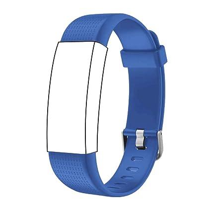 Correa para ID 130 Plus Color HR, Rastreador de Ejercicios Pulsera, Recambio Repuesto Reemplazo Banda de Reloj Ajustable para Fitness Tracker ID130 ...