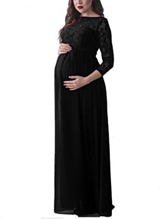 c106239e408 ZEROING Maternity Dress for Photo Shoot Pregnancy Wear Long Lace Evening  Party Dresses Clothing Maternity Photograph