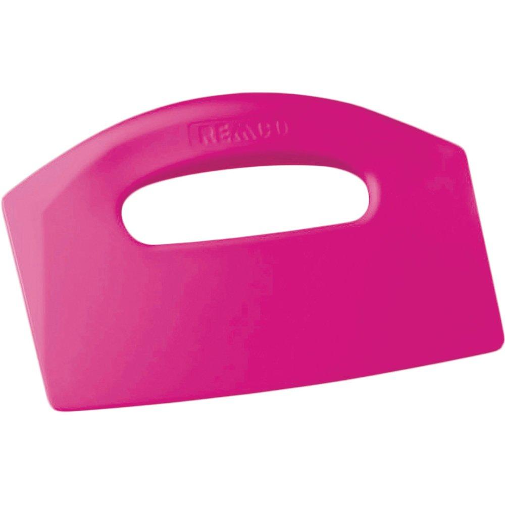 "Remco 69601 Pink Polypropylene Stiff Bench Scraper, Injection Molded Blade, 5"" L x 8.5"" W, 1 Piece"