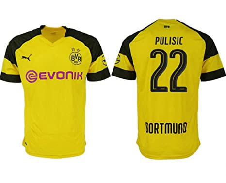 3228e2a32a0 #22 Christian Pulisic Borussia 2018/2019 Dortmund Men's Yellow Home Jersey  (Medium)
