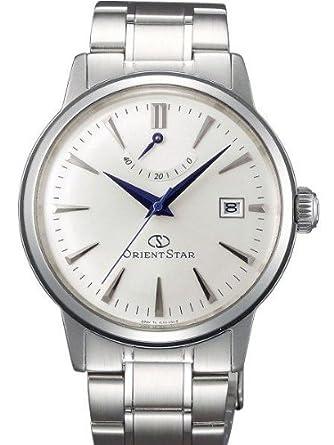 Orient Star Classic Automatik Power Reserve gewÖlbte Kristallkleid Uhr EL05003W