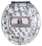 Payday Acrylic Toilet Seat with Realistic Coins