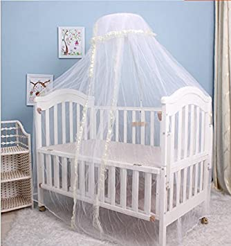 Amazon.com  Baby princess mosquito net toddler bed crib canopy netting pink with stand (beige)  Baby & Amazon.com : Baby princess mosquito net toddler bed crib canopy ...