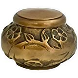 Beautiful Life Urns - Florence Antiqued Brass Keepsake Urn Ashes - Small Size - NOT Intended Full Cremation Ash Quantity
