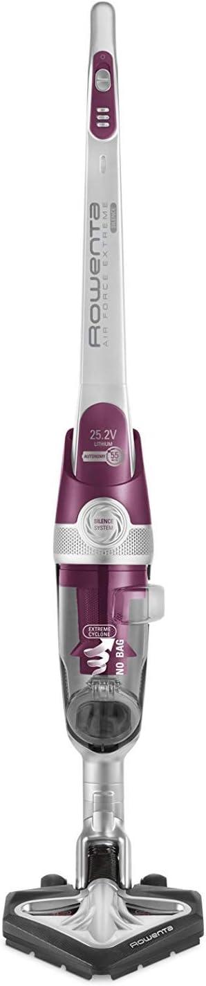 Rowenta RH8920 Aspirador Vertical Sin Bolsa, 0.5 litros, 77 Decibelios, Plástico, 3 Velocidades, Gris/Púrpura (Reacondicionado): Amazon.es: Hogar