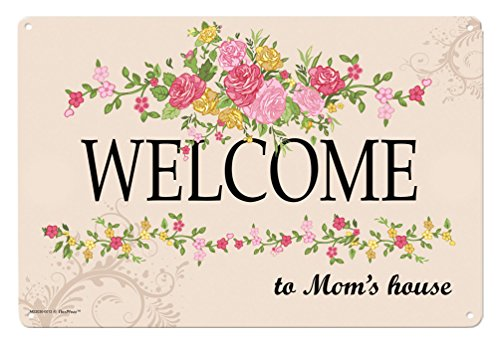 Mom Gifts Welcome to Mom's House Metal Decorative Sign Home