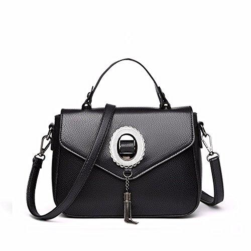 GAOQIANGFENG Una Bolsa Pequeña con un Solo Bolso de Hombro,Light Grey Black
