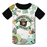 Chengquw Smokey Bear Resist Only You Can Prevent Wildfire Youth T-Shirt L