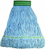 "Wilen A11203, E-Line Looped End Wet Mop, Large, 5"" Mesh Band, Blue (Case of 12)"