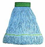 Wilen A11203, E-Line Looped End Wet Mop, Large, 5'' Mesh Band, Blue (Case of 12)