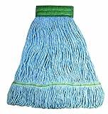 Wilen A11202, E-Line Looped End Wet Mop, Medium, 5'' Mesh Band, Blue (Case of 12)