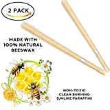 #9: Beez 100% Natural Beeswax - Lower Smoke Cones vs Paraffin Cylinder Candles - Beeswax Candling Cones 2 Candle Pack