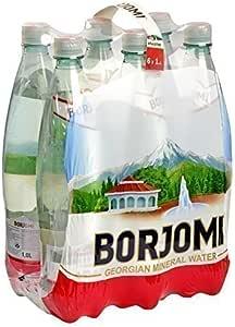 Mineral Carbonatado Agua Borjomi Con gas agua en plástico 1, 0l Botella [ Pack de 6]: Amazon.es: Alimentación y bebidas