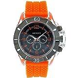 Henley Chrono Effect Orange Silicone Strap Gents Watch H02033.8