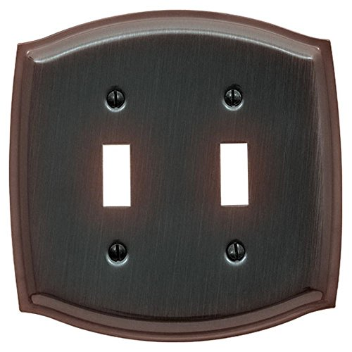Baldwin 4766.112.CD Colonial Design Double Toggle Switch Plate, Venetian Bronze -