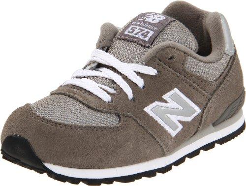 New Balance 574 Running Shoe (Infant/Toddler),Grey-GS,4 W US Toddler ()