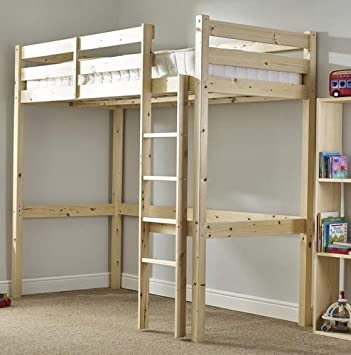 245b0106ff1b Loft Bunk Bed - Heavy Duty 3ft single wooden high sleeper bunkbed - CAN BE  USED