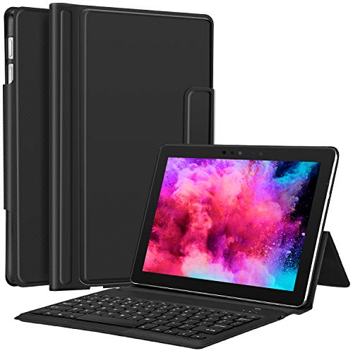 Surface Go Case with Keyboard - CHESONA Ultra-Thin Stand PU Leather Business Cover Wireless Keyboard Case for Microsoft Surface Go 10 inch 2018 Released