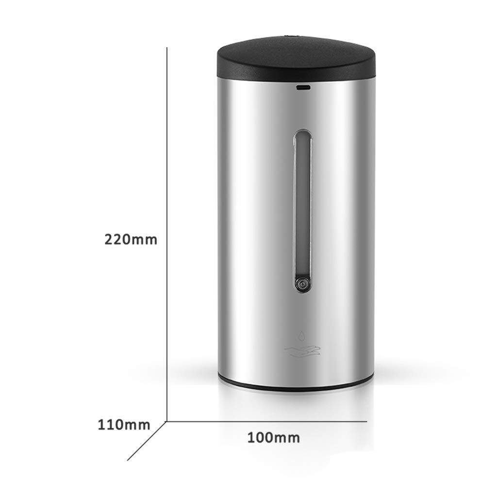 Soap dispenser Emulsion Infrared Sensor Hand sanitizer 700ml Stainless Steel soap Bottle Commercial Toilet (Color : White, Size : 221110cm)