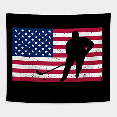 - Cxiuxiu Tapestry Wall Hanging, Wall Tapestry with American Ice Hockey Fan Home Decorations for Living Room Bedroom Dorm Decor 6051