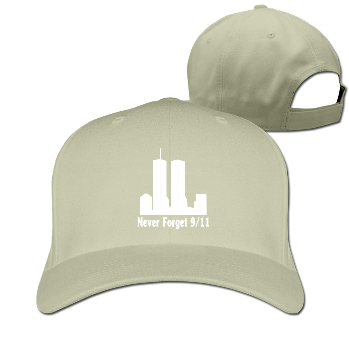 911 Never Forget Unisex Pure Color Baseball Cap Classic Adjustable Ball Hat