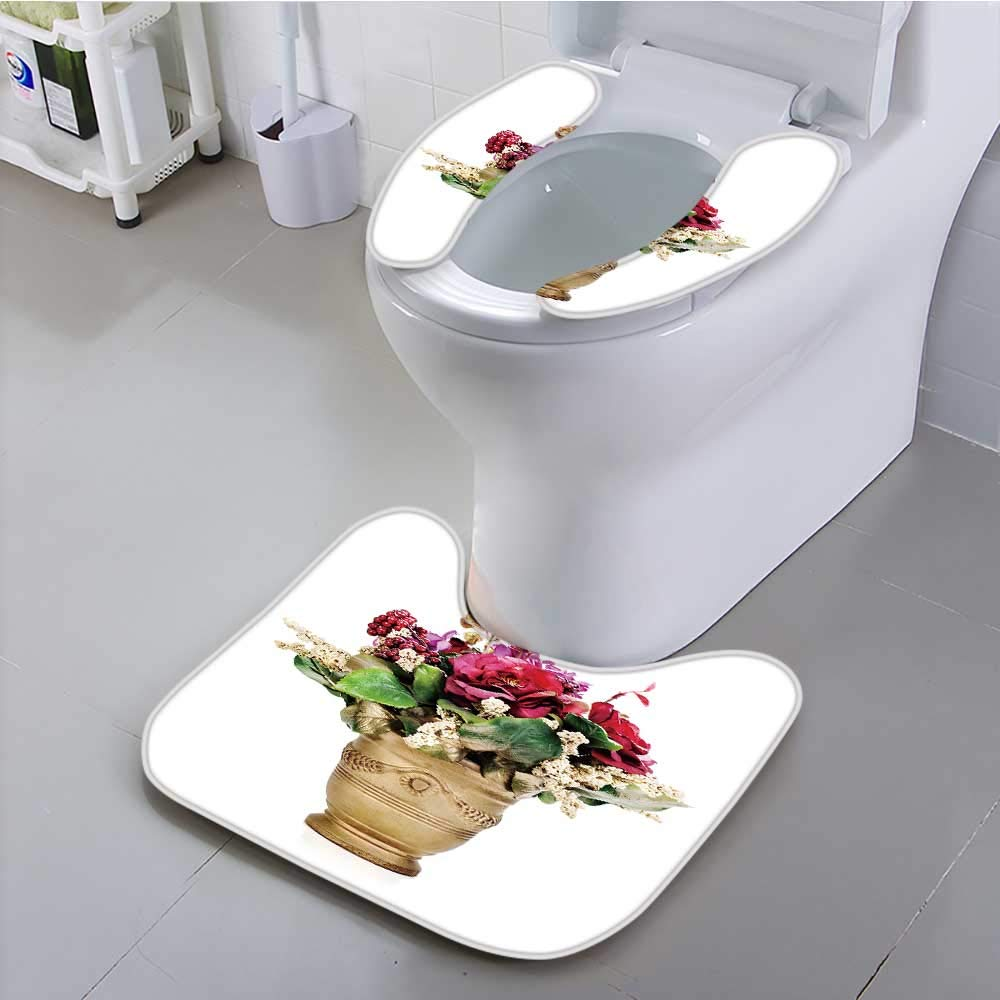 UHOO2018 Sit Toilet Cover Flower Bouquet from Artificial Flowers Arrangement Centerpiece with High Absorbency