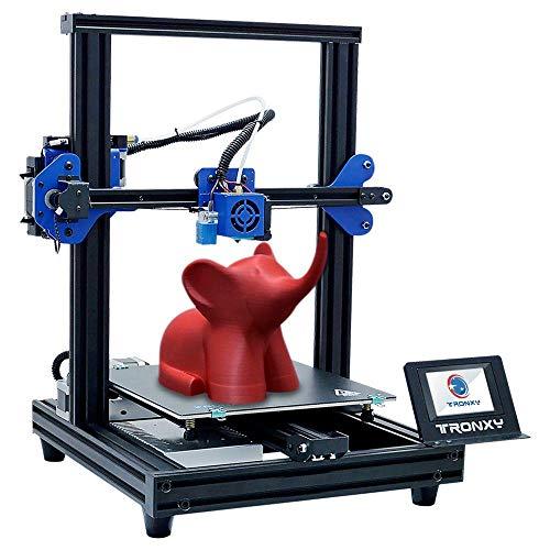 TRONXY Nueva impresora 3D mejorada XY-2 PRO Montaje rápido Instalación rápida Nivelación automática Continuación de impresión Sensor de filamento de potencia Pantalla táctil a todo color 255X255 X 260