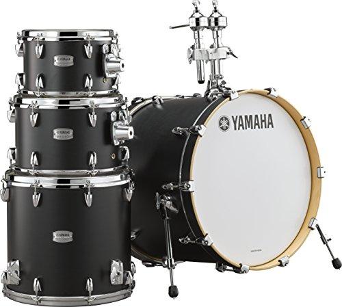Yamaha Tour Custom Maple 4pc Standard Shell Pack, Licorice Satin