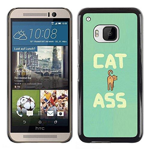 [Neutron-Star] Snap-on Series Coque de protection rigide Cas Case pour HTC One M9 [Art Cat Ass Citation drôle animal de compagnie féline]