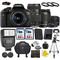 Canon EOS Rebel T6i 24.2 MP Digital SLR Camera with Canon EF-S 18-55mm IS II + Tamron AF 70-300mm F/4-5.6 + Canon EF 50mm f/1.8 II Lens + 2 Commander 32GB Memory Cards + 3pc Commander UV Filters Review Review Image