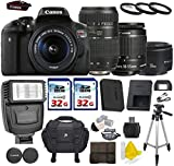 Canon EOS Rebel T6i 24.2 MP Digital SLR Camera with Canon EF-S 18-55mm IS II + Tamron AF 70-300mm F/4-5.6 + Canon EF 50mm f/1.8 II Lens + 2 Commander 32GB Memory Cards + 3pc Commander UV Filters