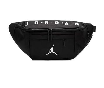 a8cdd18b93b Amazon.com | Nike Air Jordan Crossbody Waist Hip Pack (One Size, Black) |  Waist Packs
