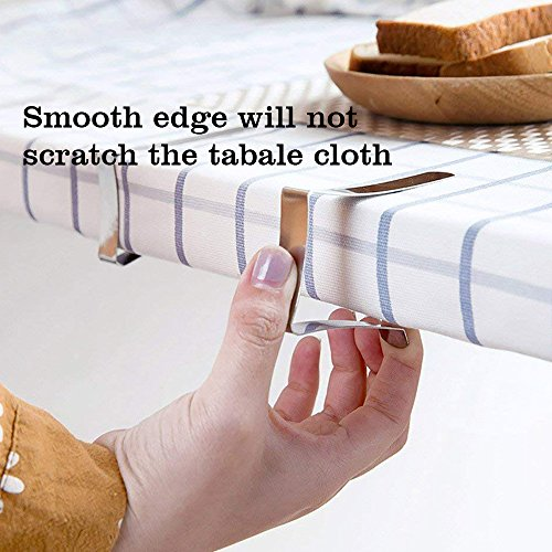 Bestxun Picnic Tablecloth Clips, 24 Pack Outdoor Table Cover Clips Flexible Stainless Steel Table Cover Clamps for Inside Outdoor Patio Park Garden Birthday Wedding Party ( 2 Sizes Included) by Bestxun (Image #3)
