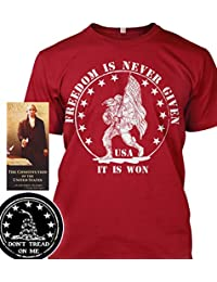 "<span class=""a-offscreen"">[Sponsored]</span>Sons of Libery Freedom is never given, it is won. Military . T-Shirt - Made ..."