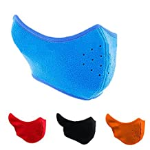 Children's Warm Fleece Windproof Cycling Ski Masks Anti-dust Breathable Half Face Mask