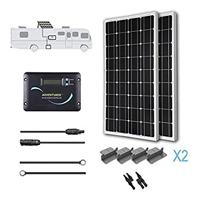 Best Cheap Deal for RENOGY 12 Volts Monocrystalline Solar RV Kit -- with Adventurer Solar Charge Controller by Renogy - Free 2 Day Shipping Available